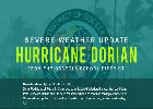 Hurricane Dorian Update-School Cancelled